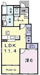 クンパーンI 1階1LDKの間取り