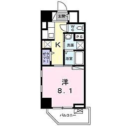ライト・アベニュー 6階1Kの間取り