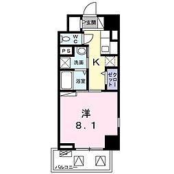 ライト・アベニュー 7階1Kの間取り