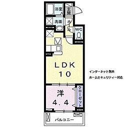 近鉄天理線 天理駅 徒歩5分の賃貸アパート 1階1LDKの間取り