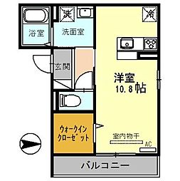 JR埼京線 戸田駅 徒歩11分の賃貸アパート 2階ワンルームの間取り