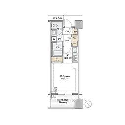 東京メトロ銀座線 表参道駅 徒歩15分の賃貸マンション 5階1Kの間取り