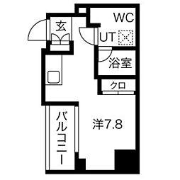 都営浅草線 戸越駅 徒歩6分の賃貸マンション 2階ワンルームの間取り