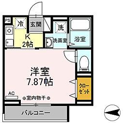 (仮)D-room国領町4丁目 3階1Kの間取り