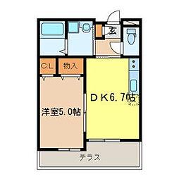 JR京浜東北・根岸線 大宮駅 徒歩18分の賃貸アパート 1階1DKの間取り
