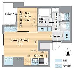 東京メトロ丸ノ内線 淡路町駅 徒歩3分の賃貸マンション 4階1LDKの間取り