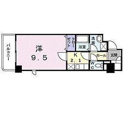 アヴァンティ サカエ 4階1Kの間取り