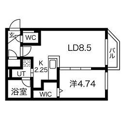 CORORE NANGOU(コローレ南郷) 3階1LDKの間取り