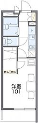 名鉄名古屋本線 東岡崎駅 徒歩20分の賃貸マンション 4階1Kの間取り