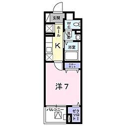 Forst Villa 2階1Kの間取り