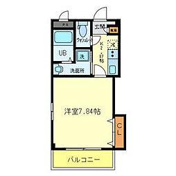 近鉄大阪線 河内国分駅 徒歩4分の賃貸マンション 3階1Kの間取り