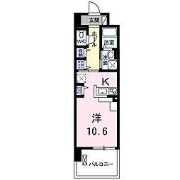 プレ・アビタシオン春日部II 4階1Kの間取り