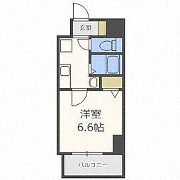 Osaka Metro谷町線 南森町駅 徒歩8分の賃貸マンション 10階1Kの間取り