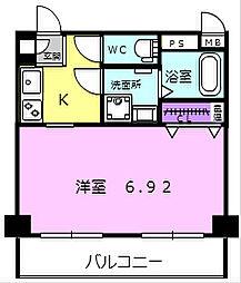 Osaka Metro中央線 高井田駅 徒歩4分の賃貸マンション 3階1Kの間取り