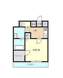JR日豊本線 別府駅 徒歩33分の賃貸マンション 1階1Kの間取り