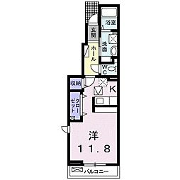 JR仙石線 榴ヶ岡駅 徒歩13分の賃貸アパート 1階1Kの間取り