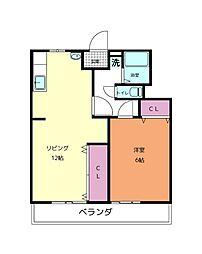 南海和歌山港線 和歌山港駅 徒歩14分の賃貸アパート 4階1LDKの間取り