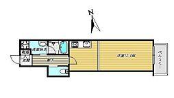 D−house 2階ワンルームの間取り