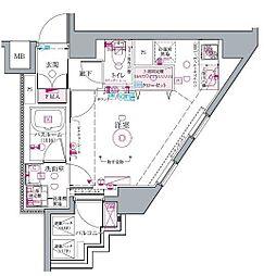 京王線 代田橋駅 徒歩6分の賃貸マンション 4階1Kの間取り