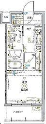 東武東上線 北池袋駅 徒歩14分の賃貸マンション 3階1Kの間取り