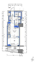 JR山手線 神田駅 徒歩4分の賃貸マンション 10階1DKの間取り