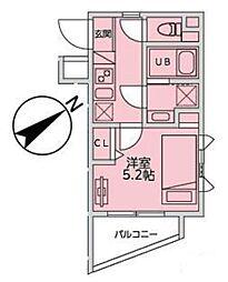 JR山手線 恵比寿駅 徒歩11分の賃貸マンション 3階1Kの間取り