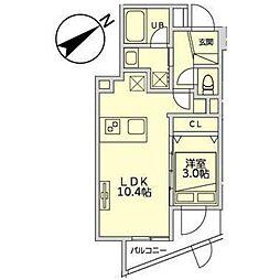 JR山手線 恵比寿駅 徒歩11分の賃貸マンション 地下1階1LDKの間取り