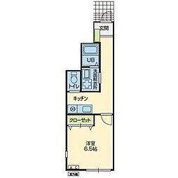 アパートメント コノハ 1階1Kの間取り