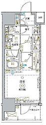 東武東上線 北池袋駅 徒歩14分の賃貸マンション 13階1Kの間取り
