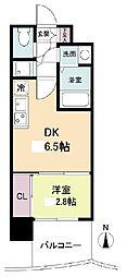 セレニテ日本橋プリエ 10階1DKの間取り