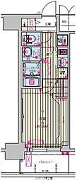 プレサンス天王寺ノースヴィアーレ 9階1Kの間取り