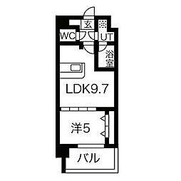 阪急神戸本線 王子公園駅 徒歩9分の賃貸マンション 4階1LDKの間取り