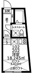 JR山手線 渋谷駅 徒歩15分の賃貸マンション 1階ワンルームの間取り
