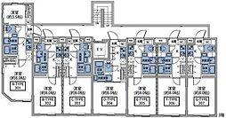 東急東横線 祐天寺駅 徒歩7分の賃貸マンション 3階1Kの間取り