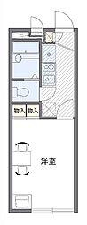 JR片町線(学研都市線) 長尾駅 徒歩12分の賃貸アパート 2階1Kの間取り