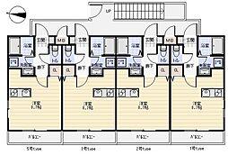 JR筑肥線 周船寺駅 徒歩15分の賃貸アパート 2階ワンルームの間取り