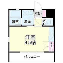 kibinosato 1階1Kの間取り