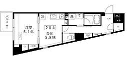 小田急小田原線 代々木上原駅 徒歩3分の賃貸マンション 2階1DKの間取り