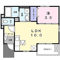 ラ マンドゥ シャ II 1階1LDKの間取り