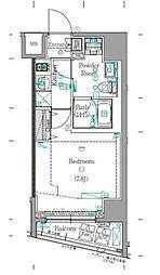 東急東横線 学芸大学駅 徒歩13分の賃貸マンション 1階1Kの間取り