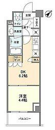 JR京浜東北・根岸線 大井町駅 徒歩9分の賃貸マンション 4階1DKの間取り