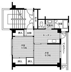 JR東北本線 南仙台駅 バス20分 仙台市営バス 袋原落合ポンプ場前下車 徒歩3分の賃貸マンション 1階2Kの間取り