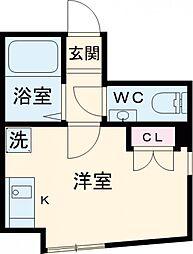 JR中央線 西荻窪駅 徒歩12分の賃貸アパート 1階ワンルームの間取り