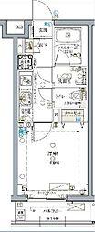 東京メトロ東西線 落合駅 徒歩2分の賃貸マンション 2階1Kの間取り