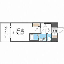 JR大阪環状線 大正駅 徒歩10分の賃貸マンション 8階1Kの間取り