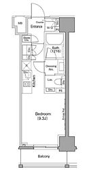 JR山手線 巣鴨駅 徒歩8分の賃貸マンション 5階ワンルームの間取り