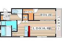 JR仙山線 陸前落合駅 徒歩13分の賃貸アパート 2階1LDKの間取り
