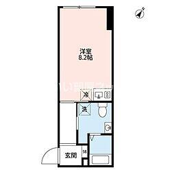 JR山手線 恵比寿駅 徒歩13分の賃貸マンション 3階ワンルームの間取り