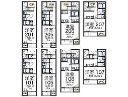 JR東北本線 南仙台駅 徒歩20分の賃貸アパート 1階1Kの間取り