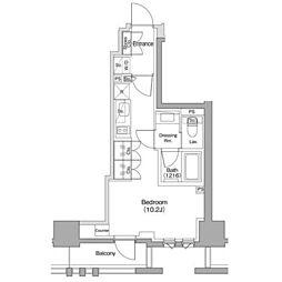 東急東横線 都立大学駅 徒歩11分の賃貸マンション 2階1Kの間取り